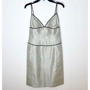 Armani Collezioni Silk Blend Corset Slip Dress